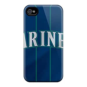 Shock Absorbent Hard Cell-phone Cases For Iphone 6 With Allow Personal Design Realistic Seattle Mariners Pattern JohnPrimeauMaurice