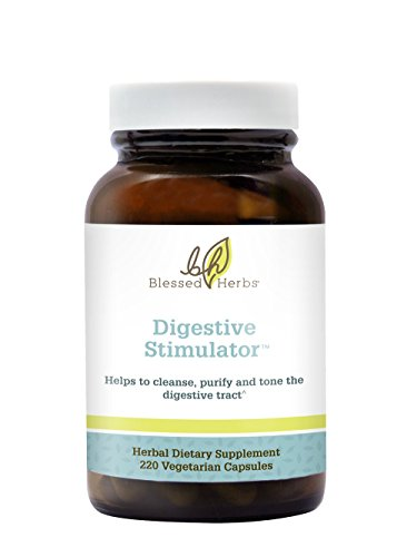 Blessed Herbs Digestive Stimulator with Cascara Sagrada, Cape Aloe, Peppermint, Dandelion Root, Barberry Root (220 count) - Cascara Sagrada Root