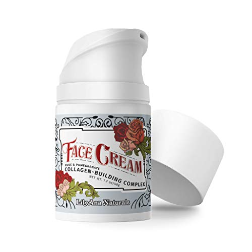 LilyAna Naturals Face Moisturizer - Face Cream for Women AND Men, Anti-Aging Wrinkle Cream for Face, Helps With Dry Skin and Dark Spot Brightening, Rose and Pomegranate Extracts - 1.7oz