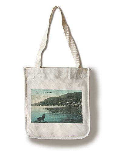(Lantern Press Sausalito, California - Shoreline View of South Sausalito (100% Cotton Tote Bag - Reusable))