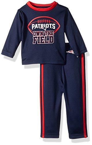 NFL New England Patriots Unisex-Baby Short-Sleeve Tee & Pant Set, Patriots, 24 (Best Gerber Girls Socks)