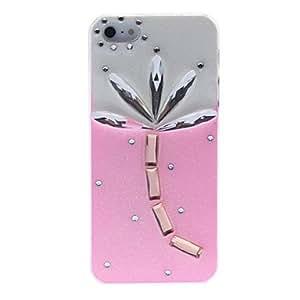 ZCL-Hoja Brillante de cristal con la caja dura del patrón del diamante para el iPhone 5/5S (colores surtidos)