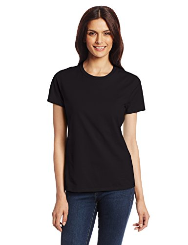 Hanes Women's Nano T-Shirt, Medium, Black (Classic Cotton Crewneck T-shirt)