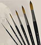 Dynasty Faux Kolinsky Series 1114 - Round Brush (Short Handle) - Size 16 (one brush)