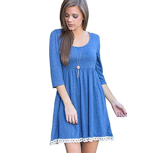 Buy light blue a line dress - 9