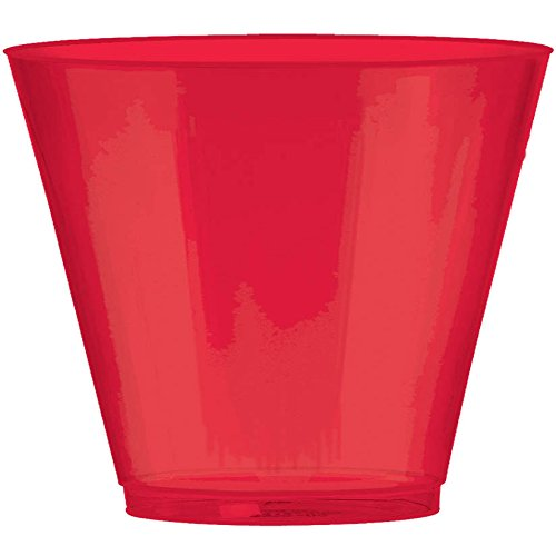 Apple Red Plastic Cup Big Party Pack, 9 Oz., 72 Ct. -