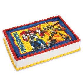 Transformers emblem Cake Edible 1/4 Sheet Image Topper Birthday Party Favor -