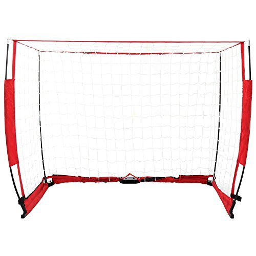 6 x 4 ftサッカーゴール、クイックセットアップポータブルFootball Goal Net with Bowフレーム[米国ストック] B075YX5BGQ