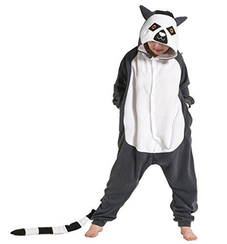 AIIGOU Kids Lemur Pajamas Homewear Onepiece Plush Cosplay -