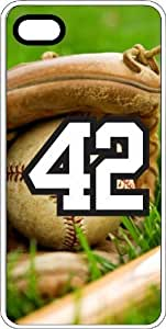 AWU DIYBaseball Sports Fan Player Number 4s2 White Rubber Decorative iPhone 4s Case