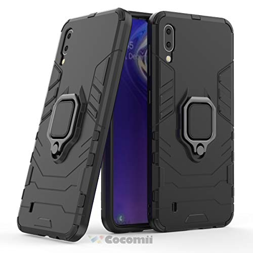 Cocomii Black Panther Armor Galaxy M10 Case New [Heavy Duty] Tactical Metal Ring Grip Kickstand Shockproof Bumper [Works with Magnetic Car Mount] Full Body Cover for Samsung Galaxy M10 (B.Jet ()