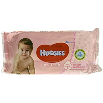 Huggies Soft Skin Baby Wipes, with Vitamin E, 56 Count (Pack of 4