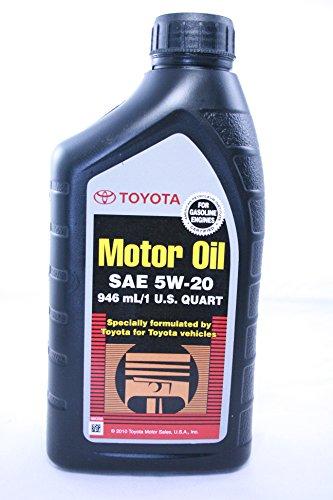 Toyota Genuine SAE 5W-20 946 ML Motor OIl 1 QUART (PACK OF 12)