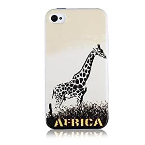 TY-Modelo de la jirafa Caso de silicona suave para iPhone5/5S