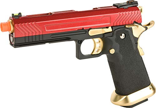 Evike AW Custom Hi-Capa Competition Grade Gas Blowback Airsoft Pistol (Color: Red/Gold)