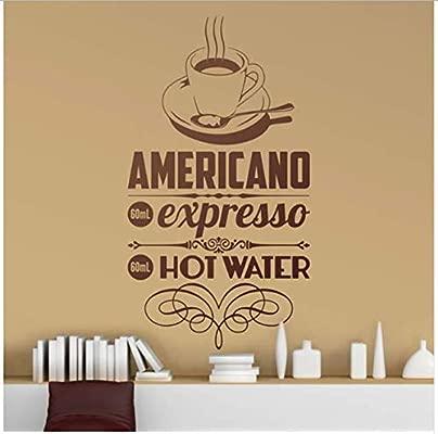 Pegatinas de Pared Muraux Pour Cuisine Cafe Americain ...