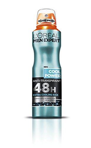 L'Oréal Men Expert Deodorant Cool Power 48h Deo-Schutz, 6 x 150 ml