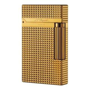 S.T. Dupont Ligne 2 Diamond Head Gold Lighter - Gold 16284 ()