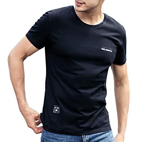 Fashion Mens Letter Printing Shirt Short Sleeve Casual