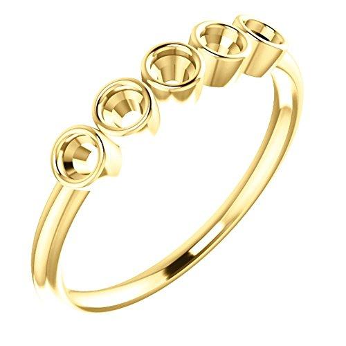 14k Yellow Gold Ring Mounting, Size 7 14k Yellow Gold Ring Mounting