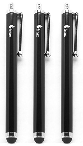fenix-universal-stylus-pen-with-soft-rubber-tip-jet-black-pack-of-three