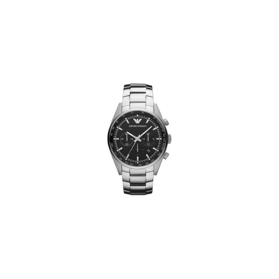 Emporio Armani AR5980 Mens Sportivo Chronograph Silver Watch Watches
