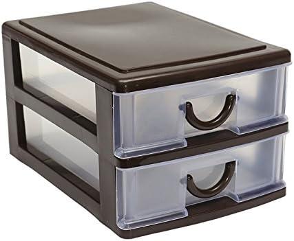 ZREAL Cajón de plástico, Mesa de Oficina y Escritorio portaschermo Estilo estético Caja de almacenaje: Amazon.es: Hogar