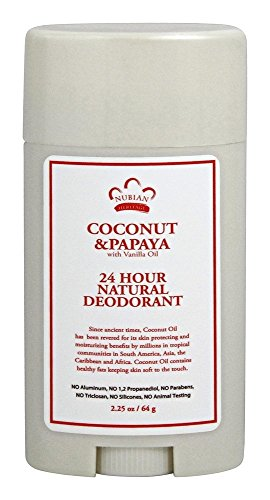 Nubian Heritage 24 Hour Deodorant, Coconut/Papaya with Vanilla Oil,2.25 Ounces