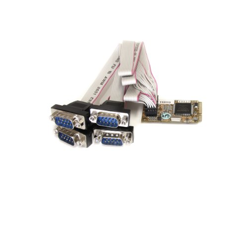 Startech 4 Port RS232 Mini PCI Express Serial Card with 1...