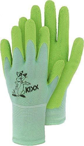 Kinderstrickhandschuh Nylon mit Latexbeschichtung Arbeitshandschuh (Größe 5 / grün)