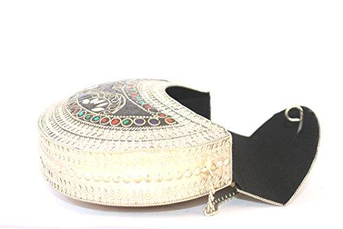 Handmade Clutch Tasche Damen Vintage Boho Bohemian Hippie Fashion Style Chic Geschenk Kunst Shoulder Bag Umhängetasche Hochzeit Handtasche Kette Schmuck Unique Handicraft Tribal Art Accessories Perle