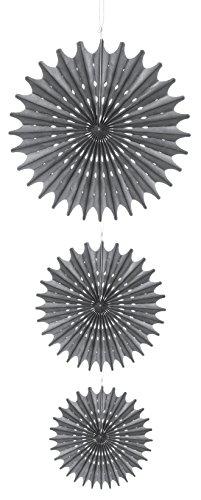 Darice David Tutera 3 Piece Hanging Die Cut Tissue Medallion, (Cut Medallion)