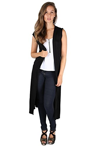 Donna Trench Regulr Schwarz Fashion Cardigan Fast FxBqwvtB