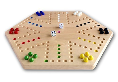 Maple Hand-painted Double-sided Aggravation Game Board, 16'' Wide by AmishToyBox.com