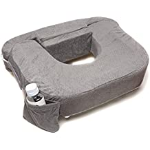 My Brest Friend Supportive Nursing Pillow For Twins 0-12 Months, Plus-Size, Dark Grey