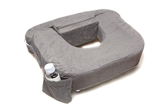 Deluxe Nursing Pillow Evening, Dark Grey (Best Breastfeeding Pillow)