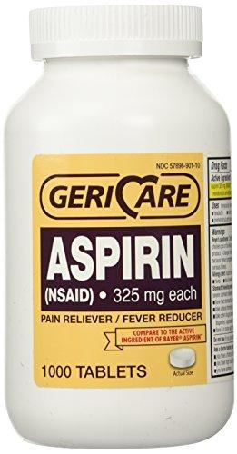 Bottled Aspirin 1000/bottle (NSAID) 325 mg. each by Geri-Care Pharmaceuticals ()