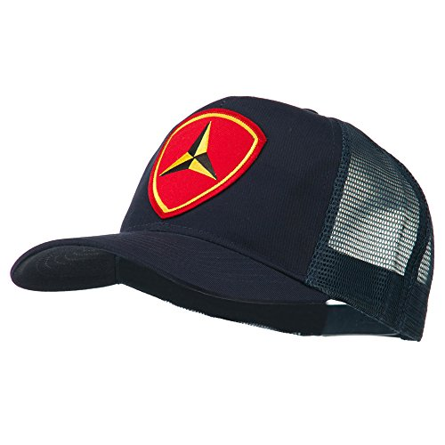 e4Hats.com 3rd Marine Division Patched Mesh Cap - Navy OSFM (Marine Division Hat)