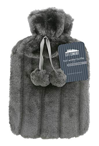 CityComfort Hot Water Bottle with Super Soft Luxury Plush Cover   2 litres...