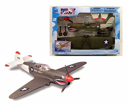 NEWRAY 1:48 PILOT MODEL KIT FIGHTER JET P-40 20217F2