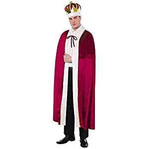 AMSCAN King Robe Halloween Costume for Men, One Size