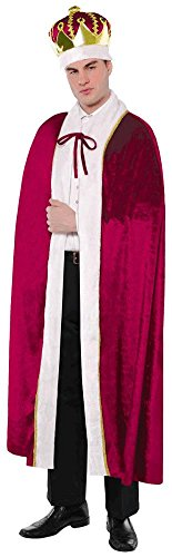 AMSCAN King Robe Halloween Costume for Men, One Size ()