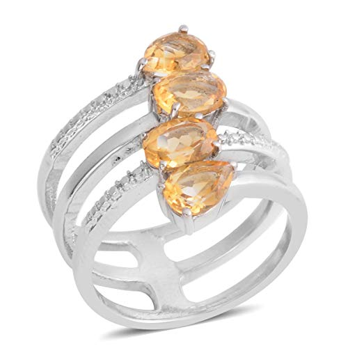 - Shop LC Delivering Joy Stainless Steel Oval Citrine Wrap Statement Ring for Women Jewelry Gift Size 7.5 Cttw 2.5