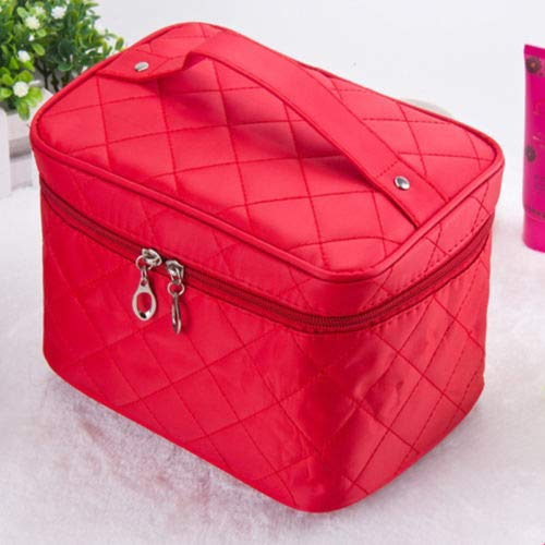 Fashion Women Organizer Bag Multi Functional Cosmetic Storage Bags makeup Bag LO (Color - red)