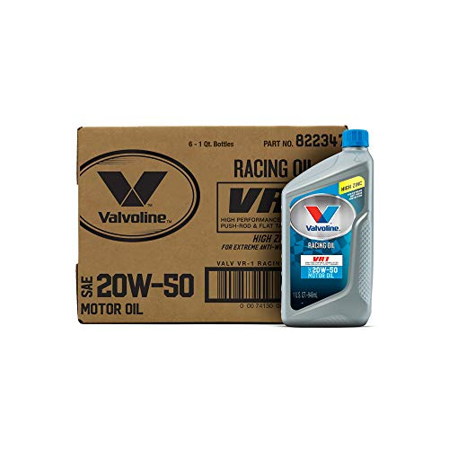 Valvoline 20W-50 VR1 Racing Motor Oil - 1qt (Count of 6) - Racing Porsche Engine