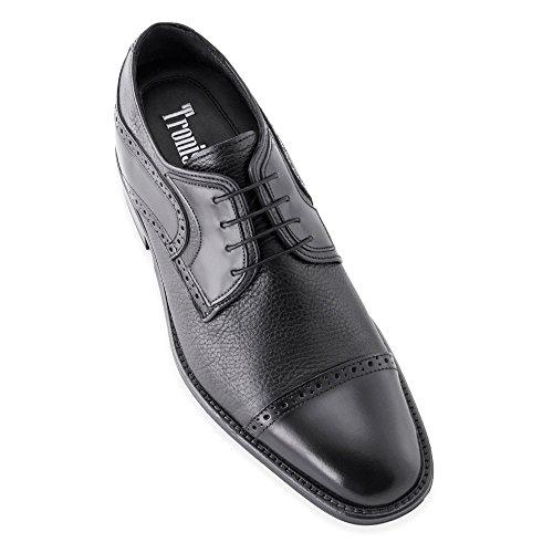 Hoogte Toenemende Schoenen Voor Mannen. Groter Zijn 7 Cm / 2.75 Inch. Model Berlin Zwart