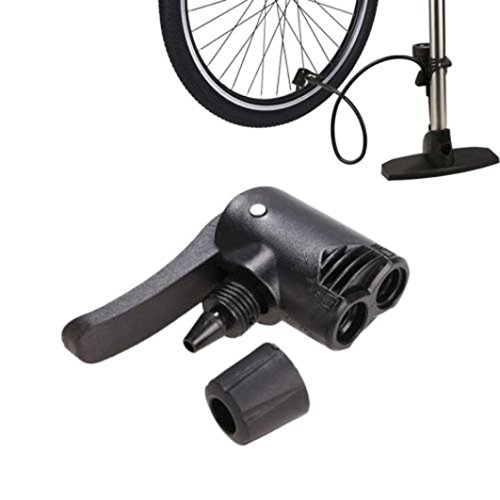 Dartphew Bike Accessories,Fashion Outdoor Convenient Bicycle Bike Cycle Tyre Tube Replacement Presta Black Dual Head Air Pump Adapter Valve For Outdoor Hiking Camping Hunting Cycling