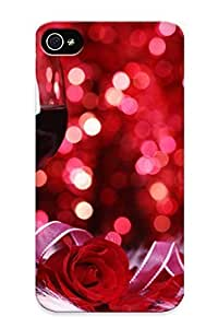 05efb695977 Throbbing Awesome Case Cover Compatible With Iphone 4/4s - Romantic Night Valentines Mood Wine Love