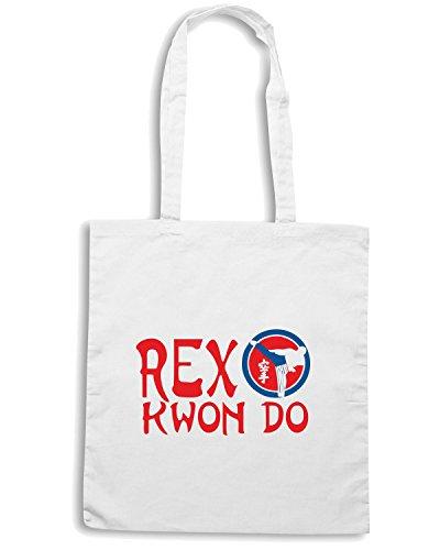 T-Shirtshock - Bolsa para la compra TAM0156 rex kwon do hooded sweatshirt Blanco