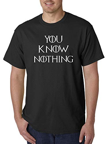 Trendy USA 1218 - Unisex T-Shirt You Know Nothing Jon Snow Game of Thrones Large ()